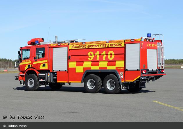 Jönköping - Industribrandkår Flygplats Jönköping - Havaribil - 2 43-9110