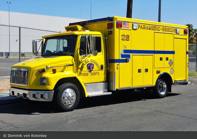 Las Vegas - Clark County Fire Department - Rescue 026