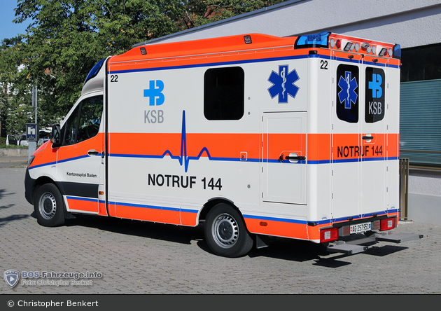 Brugg - Kantonsspital Baden - RTW - Kaba 22