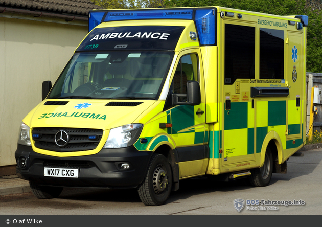 Coleford - South Western Ambulance Service - RTW - 7739