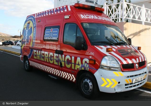 Puerto del Carmen - Servicio Insular De Ambulancias - RTW - AL-01