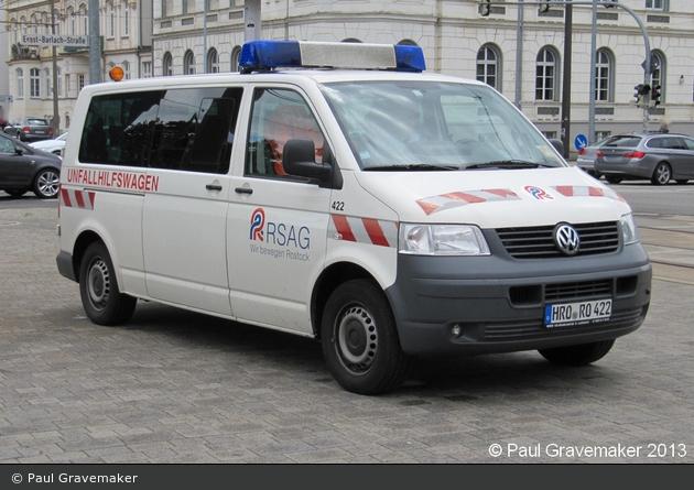 Rostock - Rostocker Straßenbahn AG - Unfallhilfswagen 422