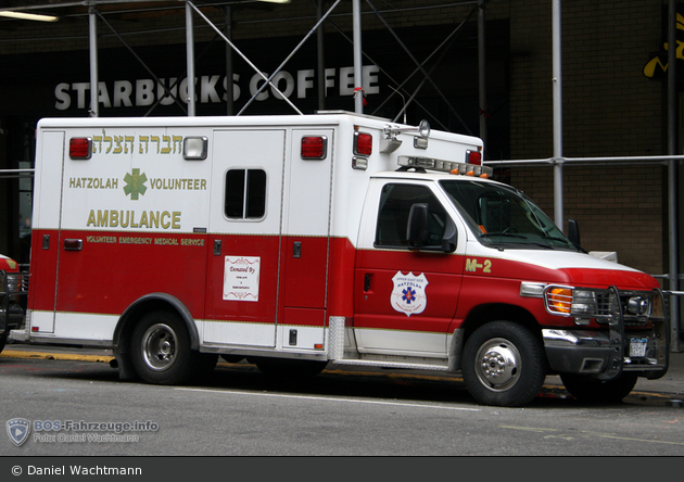 NYC - Manhattan - Upper East Side Hatzolah Volunteer Ambulance Corp. Inc - Ambulance M-2 - RTW