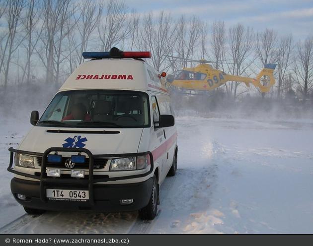CZ - Krnov - Winter auf dem Heliport Krnov