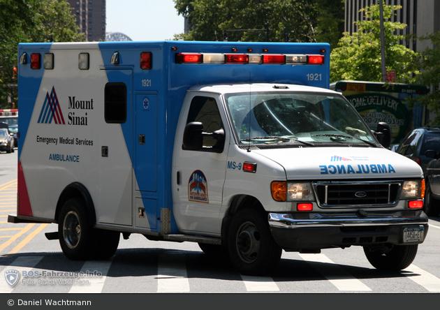 NYC - Manhattan - Mount Sinai Hospital EMS Prehospital Care - Ambulance MS-9 - RTW