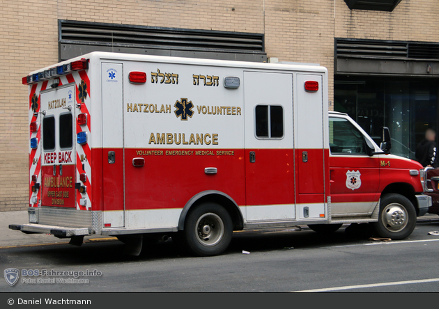 NYC - Manhattan - Upper East Side Hatzolah Volunteer Ambulance Corp. Inc - Ambulance M-1 - RTW