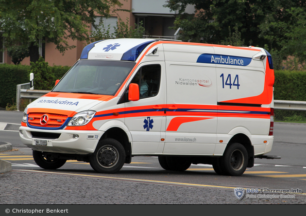 Stans - Kantonsspital Nidwalden - RTW - 72