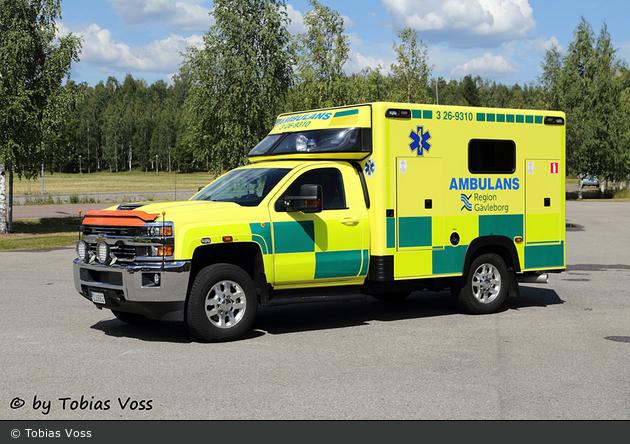 Bollnäs - Landstinget Gävleborg - Ambulans - 3 26-9310