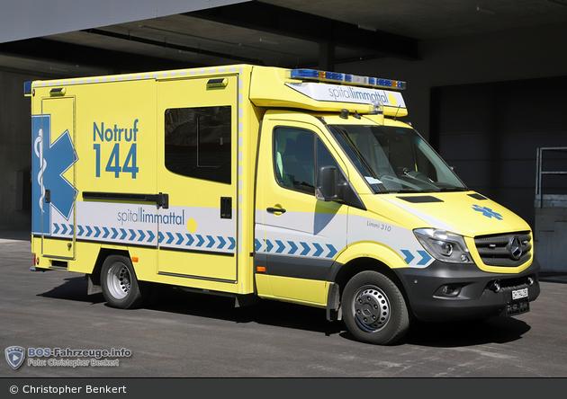 Schlieren - Spital Limattal - RTW - Limmi 310