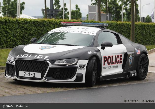 Einsatzfahrzeug Audi R8 Rauwers Police Showcar Bos