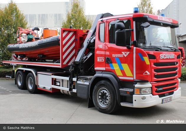 Antwerpen - Brandweer - WLF-Kran - A100