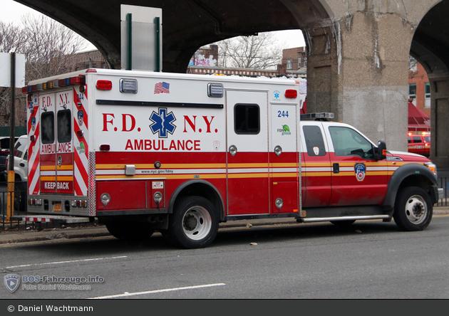 FDNY - EMS - Ambulance 244 - RTW