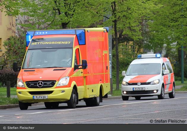 BB - BF Potsdam - RTW und NEF im Rendezvoussystem
