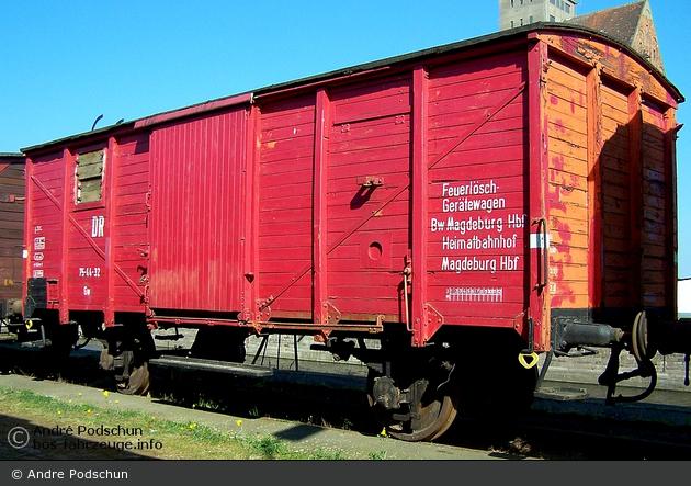 Magdeburg - Magdeburger Eisenbahnfreunde - Feuerlöschgerätewagen Bw Magdeburg