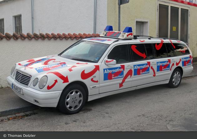 München - Alternative für Deutschland - Werbefahrzeug