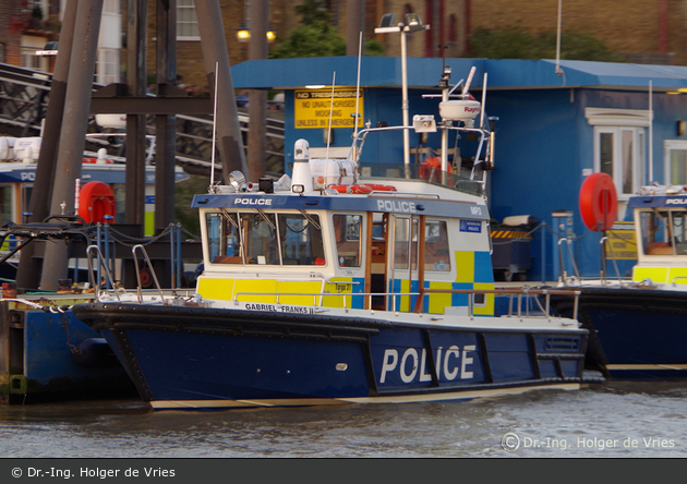 "London - Metropolitan Police Service - Marine Policing Unit - Streckenboot MP3 "" GABRIEL FRANKS II"""